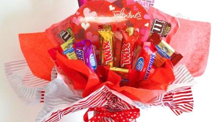 Valentine Candy Bouquet Ideas