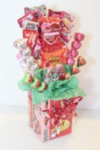 Valentine Day's Candy Bouquet