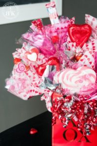 Valentine Flower Candy Bouquet