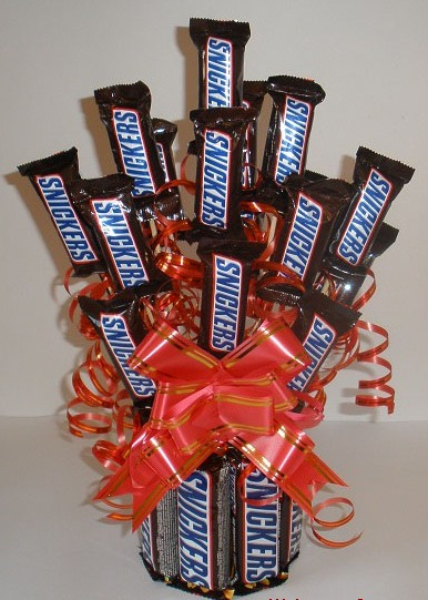 Valentines Candy Bouquet Idea