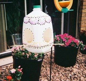Milk Jug Bird Feeder Instructions