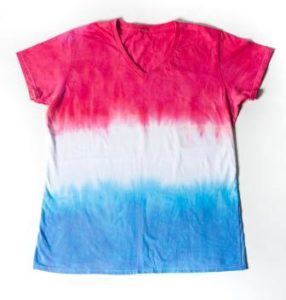 Red White Tie Dyed Shirt
