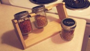 DIY Mason Jar Spice Rack