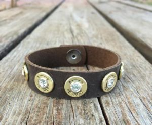 Leather Bullet Bracelet DIY
