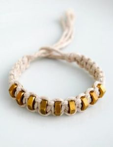Macrame Bracelet with Square Knot