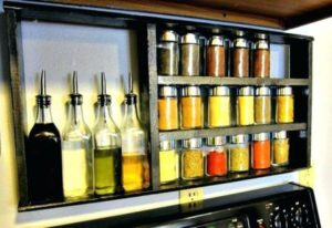 Over the Stove Spice Rack DIY