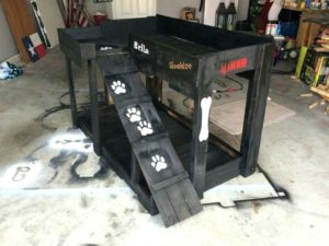 Pallet Dog Bed with Stairs