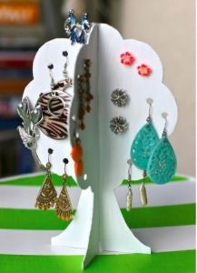 Cardboard Tree Earring Holders