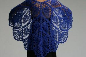 Crochet Pineapple Shawl Patterns