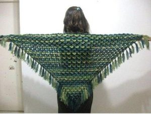 Crocodile Stitch Crochet Shawl Pattern