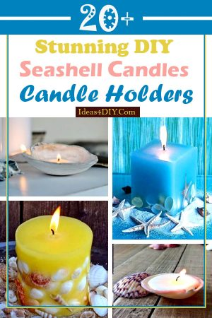 DIY Seashell Candles and Holders