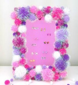 Earring Holder from Picture Frame