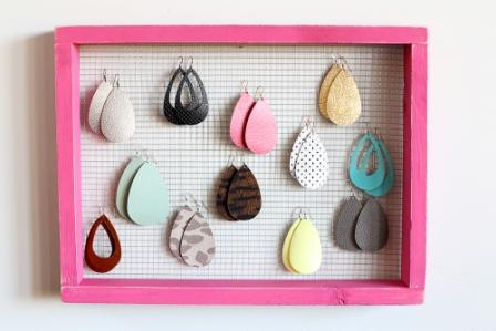 75 DIY Earring Holder Ideas Amazing How Tos