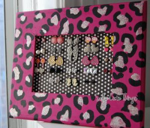Pink Earring Holder