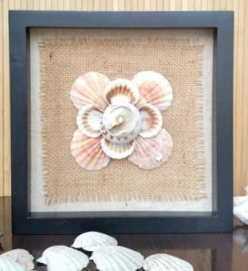 Seashell Shadow Box Wall Art