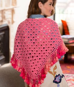 V Stitch Crochet Shawl