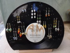 Vinyl Records Earring Holder