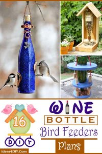 16 DIY Wine Bottle Bird Feeders Plans