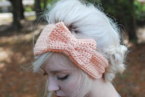 Crochet Bow Ear warmer