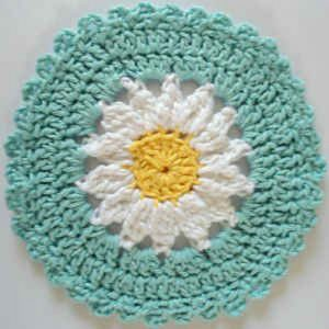 Crochet Daisy Dishcloth