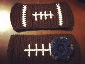 Crochet Football Ear Warmer