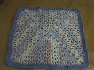 Crochet Granny Square Dishcloth