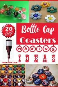 DIY Bottle Cap Coasters Making Ideas