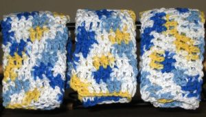 Double Crochet Dishcloth