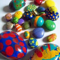 Easter Eggs Rock Painting