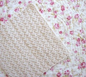 Easy Crocheted Dishcloth