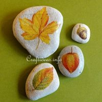 Fall Leaf Stone Painting Ideas