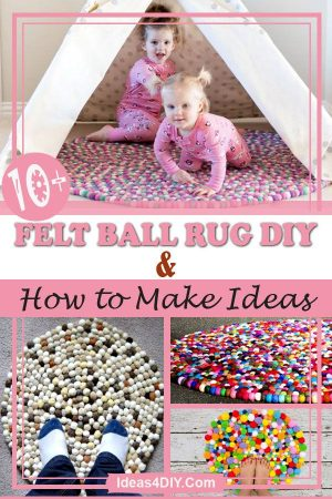 Felt Ball Rug DIY Ideas