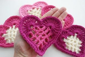 Free Crochet Heart Dishcloth PatternFree Crochet Heart Dishcloth Pattern