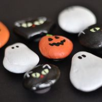 Halloween Rock Painted