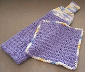 Hanging Crochet Dishcloth