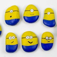 Minions Painted Rocks