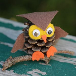 Pine Cone Owl Kids Craft
