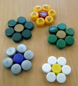 Plastic Bottle Cap Coasters