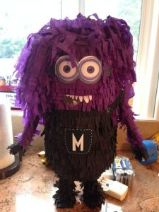 Purple Minion Pinata