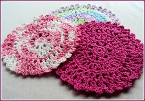 Round Crochet Dishcloth