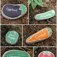 Vegetable Painted Rock Ideas