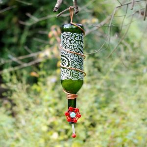 WIne Bottle Feeder Hummingbird