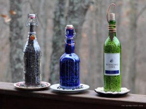 Wine Bottle Bird Feeders DIY