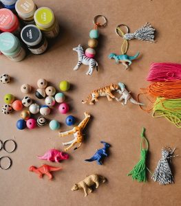 Beaded Animal Keychains