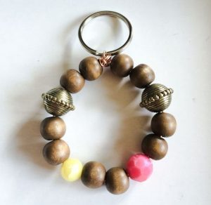 Beaded Keychain Bracelet