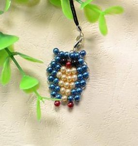 Beaded Owl Keychain