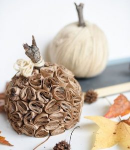 Brown Paper Pumpkin Craft