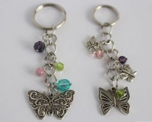 Butterfly Beaded Keychains