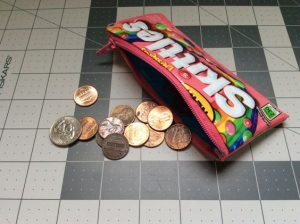Candy Wrapper Coin Pouch