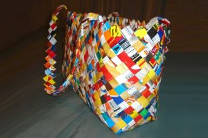 Candy Wrapper Purse With Flat Bottom